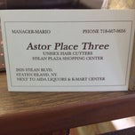 Photo taken at Astor Place Three Barber by Andrea C. on 5/25/2012