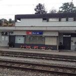 Photo taken at Bahnhof Muri by Yvette on 8/30/2012