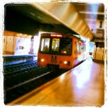 Photo taken at Jesmond Metro Station by Briton P. on 5/22/2012