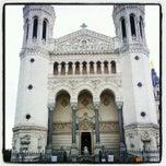 Photo taken at Basilique Notre-Dame de Fourvière by Fabien G. on 8/12/2012