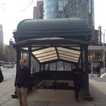 Photo taken at Astor Place by Andrew T. on 4/1/2012