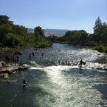 Photo taken at Truckee River by Clarissa L. on 7/14/2012