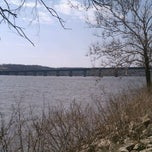 Photo taken at Fred Schwengel Memorial Bridge by Nate on 3/18/2012