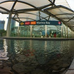 Photo taken at Marina Bay MRT Interchange (NS27/CE2) by Illhump A. on 6/1/2012