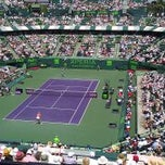 Photo taken at Grandstand Court - Sony Ericsson Open by Timmie K. on 3/31/2012