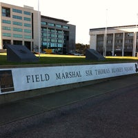 Photo taken at Field Marshal Sir Thomas Blamey Square by Gary L. on 7/31/2012