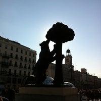Photo taken at Estatua del Oso y el Madroño by Lu S. on 2/26/2012