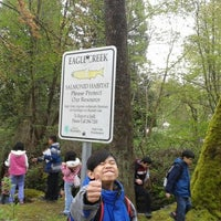 Photo taken at Eagle Creek at Burnaby Mountain by Nathaniel P. on 4/27/2012