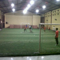 Photo taken at Liiur Futsal & cafe by bagus m. on 1/18/2012