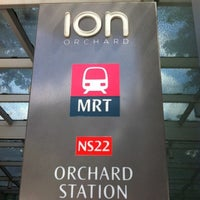 Photo taken at Orchard MRT Station (NS22) by Mazaki T. on 7/22/2012