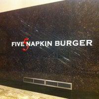 Photo taken at 5 Napkin Burger by Paul H. on 2/11/2012