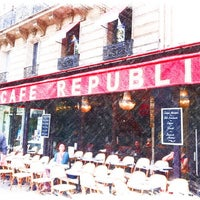 Photo taken at Café République by Nicolas L. on 7/5/2012