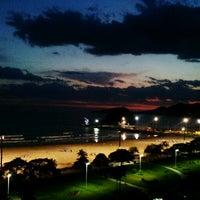 Photo taken at Praia do José Menino by Luiz d. on 12/23/2011