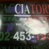 Photo taken at Cacciatori Pizza & Pasta by Andrew F. on 7/8/2011