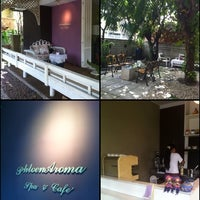 Photo taken at Phloen Aroma Spa and Cafe by Abby on 11/19/2011