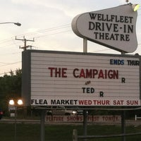 Photo taken at Wellfleet Drive-in and Cinemas by Chris C. on 8/25/2012