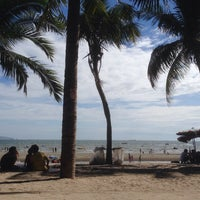 Photo taken at Bang Saen Beach by Chot S. on 6/21/2015