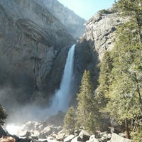Photo taken at Lower Yosemite Falls by Max G. on 4/27/2013