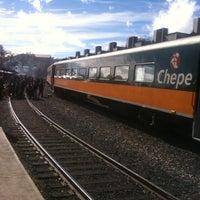 Photo taken at Ferrocarril Chihuahua Pacífico (Chepe) Estación Divisadero by Eleazar C. on 12/31/2012
