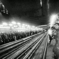 Photo taken at Metro Baquedano by Pablo V. on 5/28/2013