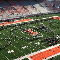 Photo taken at Memorial Stadium by Krista P. on 11/10/2012