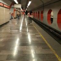 Photo taken at Metro Aquiles Serdán (Línea 7) by Mel B. on 5/1/2016