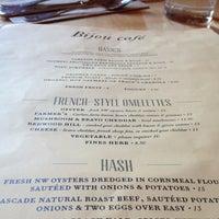Photo taken at Bijou Cafe by Wendy W. on 4/13/2013