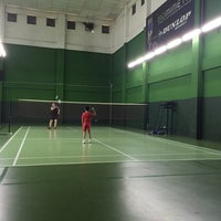 Photo taken at BJGCR Badminton Court by Cindy 鄭. on 6/22/2016