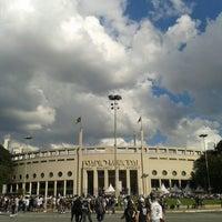Photo taken at Estádio Municipal Paulo Machado de Carvalho (Pacaembu) by Fabio A. on 7/14/2013