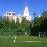 Photo taken at Футбольное поле МГУ by Alexander M. on 5/25/2013