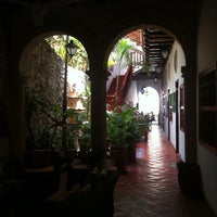 Photo taken at Hotel Casa del Curato Cartagena de Indias by Rubén C. on 5/14/2013