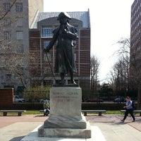 Photo taken at Robert Morris Statue by LeMikkos S. on 4/8/2013