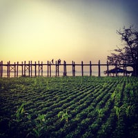 Photo taken at ဦးပိန် တံတား U Bein Bridge by Kevin C. on 1/8/2013