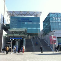 Photo taken at Cheongnyangni Stn. by Connie L. on 2/11/2013