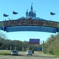 Photo taken at Walt Disney World Entrance by Stephanie C. on 12/22/2012