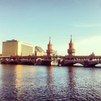 Photo taken at Oberbaumbrücke by Doro K. on 10/22/2013