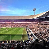 Photo taken at Stadion Feijenoord by Ronald S. on 10/28/2012