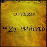 Photo taken at Osteria Zì 'Mberto by Noemi G. on 5/26/2013