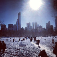 Photo taken at Sheep Meadow - Central Park by Romain P. on 2/9/2013