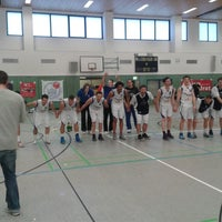 Photo taken at Universitätssporthalle by Nico D. on 3/29/2014
