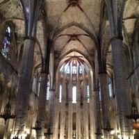 Photo taken at Basílica de Santa Maria del Mar by Jihyun O. on 9/14/2013