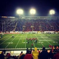 Photo taken at McMahon Stadium by Alexander P. on 10/27/2012