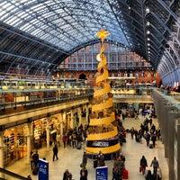 Photo taken at London St Pancras International Railway Station (STP) by Mejroxy on 12/31/2012