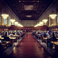 Photo taken at Rose Main Reading Room - New York Public Library by Adjua G. on 10/23/2012