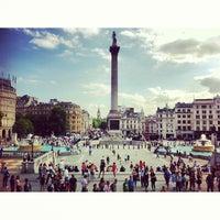 Photo taken at Trafalgar Square by Alyona Y. on 9/3/2013