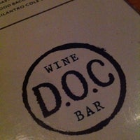 Photo taken at DOC Wine Bar by Justin C. on 3/22/2013