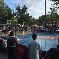 Photo taken at Rucker Park Basketball Courts by Jeremy T. on 8/19/2015