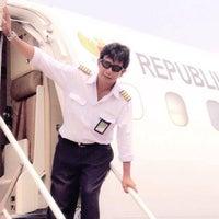 Photo taken at Bandar Udara Pondok Cabe (PCB) by Pinky F. on 4/20/2016