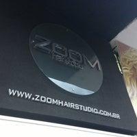 Photo taken at Zoom Hair Studio by Felipe Figueiredo M. on 4/5/2013