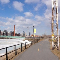Photo taken at Esplanade du Centenaire, Canal Lachine by Frédéric R. on 3/28/2013